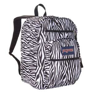 Mochila JanSport Big Student color zebra