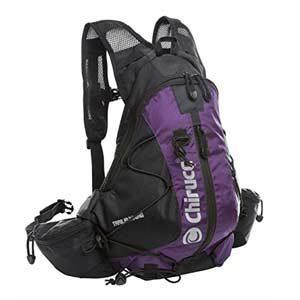 Mochila Chiruca Trail 11 litros, violeta y gris