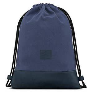 JOHNNY URBAN - Bolsa de algodón y cuero, azul