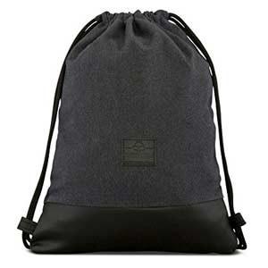 JOHNNY URBAN - Bolsa de algodón y cuero, negro/gris